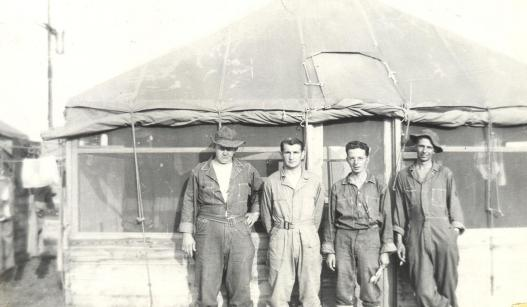 Brooks, Lake, Welsh, Snuffy Errclion, Camp Claiborne, LA 1941 125.0191.1.jpg