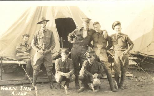 Mark Loregan & 6 soldiers, Camp Claiborne, LA  125.0074.1.jpg
